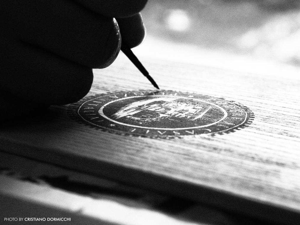 Menù copertina in legno